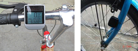 Picture of Bicycle Computer with Solar Power for Model No 008